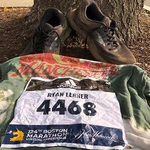 Shoes and marathon race bib